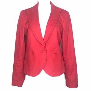 Kenar Red Single Button Blazer A020678